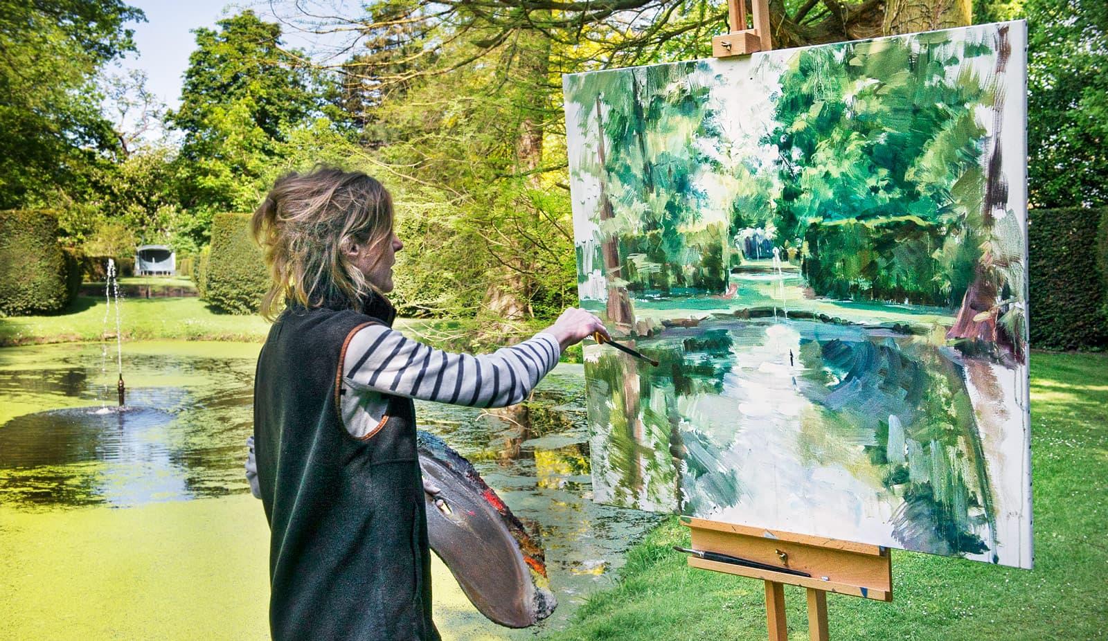 Marie-Claire Kerr painting landscape